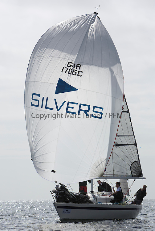 Day two of the Silvers Marine Scottish Series 2015, the largest sailing event in Scotland organised by the  Clyde Cruising Club<br /> Racing on Loch Fyne from 22rd-24th May 2015<br /> <br /> 1706C, Nemo, Andrew &amp; Dean Malcolm, ccc, Eygthene 24<br /> <br /> Credit : Marc Turner / CCC<br /> For further information contact<br /> Iain Hurrel<br /> Mobile : 07766 116451<br /> Email : info@marine.blast.com<br /> <br /> For a full list of Silvers Marine Scottish Series sponsors visit http://www.clyde.org/scottish-series/sponsors/