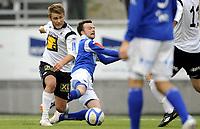 Fotball<br /> Norge<br /> 23.10.2011<br /> Foto: Morten Olsen, Digitalsport<br /> <br /> Adeccoligaen<br /> Asker v Hødd 0:3<br /> <br /> Erik Sandal - Hødd<br /> Atli Heimsson - Asker<br /> Sandal felles og Hødd får straffespark
