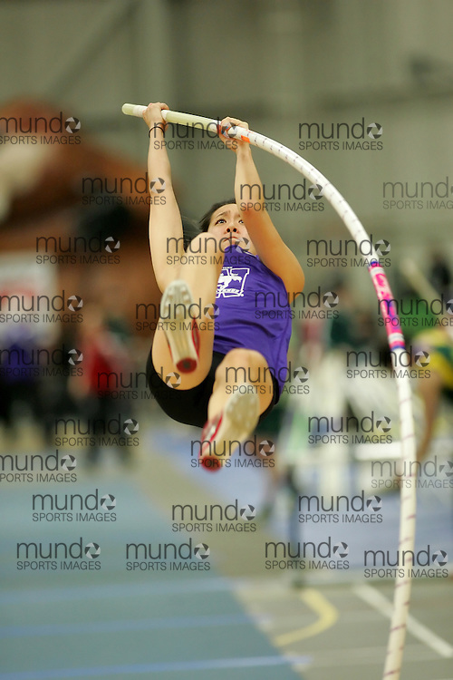(Windsor, Ontario---12 March 2010) Carmen Siu of University of Western Ontario Mustangs   competes in the pole vault at the 2010 Canadian Interuniversity Sport Track and Field Championships at the St. Denis Center. Photograph copyright Sean Burges/Mundo Sport Images. www.mundosportimages.com