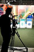 Belo Horizonte_MG, Brasil...Dudu (torcedor do Cruzeiro), Jair Bala (torcedor do America) e Bauxita(torcedor do Cruzeiro) na gravacao do programa esportivo Alterosa Esportes...Dudu (Cruzeiro fan), Jair Bala  (America fan) and Bauxita (Cruzeiro fan) in the recording of sport program Alterosa Esportes...Foto: LEO DRUMOND / NITRO