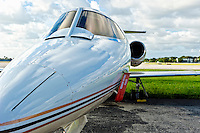 Executive jet in tamrac in regional airport