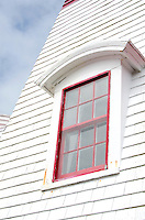 An arched window on the East Quoddy (Head Harbor) Lighthouse, Campobello Island.