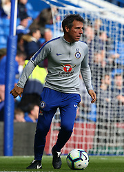 October 20, 2018 - London, England, United Kingdom - London, England - October 20: 2018.Gianfranco Zola Assistant Head Coach of Chelsea.during Premier League between Chelsea and Manchester United at Stamford Bridge stadium , London, England on 20 Oct 2018. (Credit Image: © Action Foto Sport/NurPhoto via ZUMA Press)