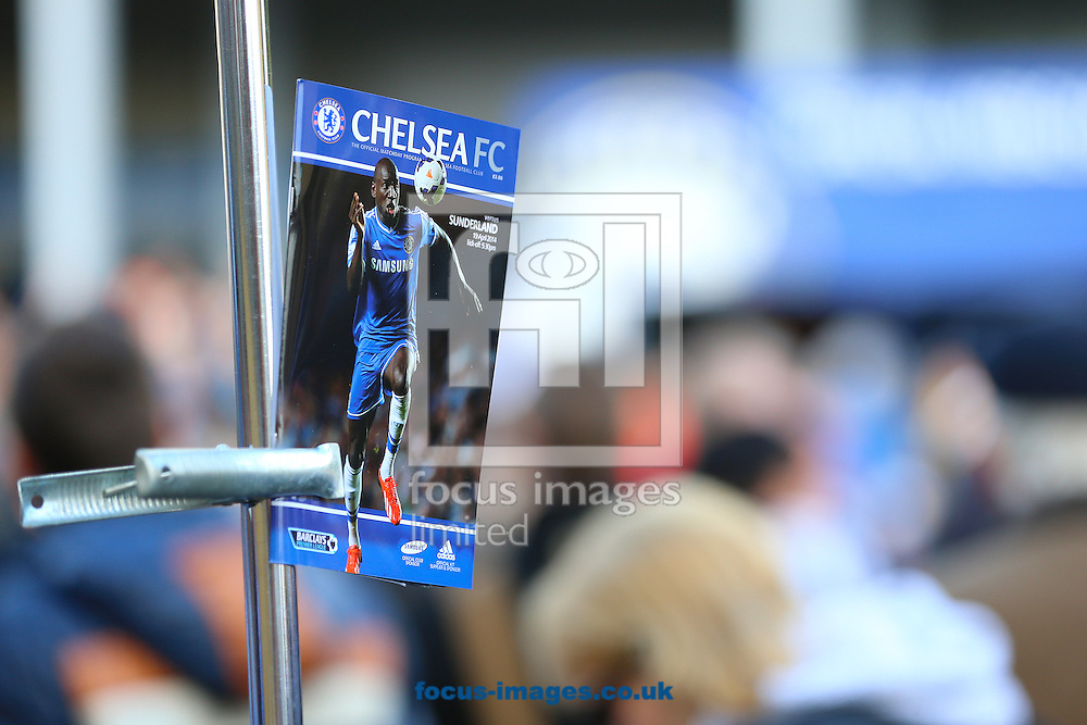 The official matchday programme before the Barclays Premier League match between Chelsea and Sunderland at Stamford Bridge, London<br /> Picture by Richard Calver/Focus Images Ltd +447792 981244<br /> 19/04/2014