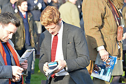 NEWBURY, ENGLAND 26TH NOVEMBER 2016: James Norton at Hennessy Gold Cup meeting Newbury racecourse Newbury England. 26th November 2016. Photo by Dominic O'Neill