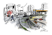 Some of the more inspired ideas for repurposing the Battery Street Tunnel included building a giant swimming pool and water park, a big bocce court, a skateboard park, a marijuana pea patch or a night club. (Gabriel Campanario / The Seattle Times)