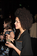 NATHALIE EMMANUEL;  Party to celebrate Vanity Fair's very British Hollywood issue. Hosted by Vanity Fair and Working Title. Beaufort Bar, Savoy Hotel. London. 6 Feb 2015