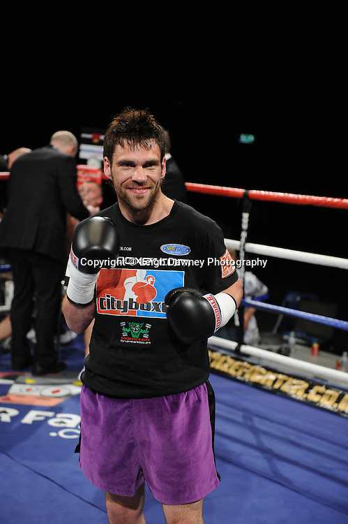 Phil Gill pictured after defeating Scott Evans at London's Olympia on Saturday 30th April 2011. Matchroom Sport. Photo credit © Leigh Dawney.