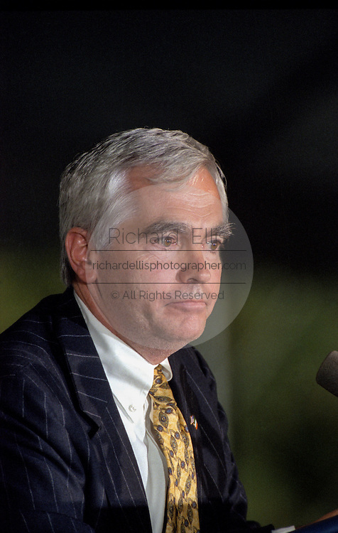 Brian O'Dwyer's, Director of the Paul O'Dwyer Peace and Justice Center during their award ceremony on the South Lawn of the White House September 11, 1998 in Washington, DC. President Clinton was presented the award for his work in helping bring peace in Northern Ireland.