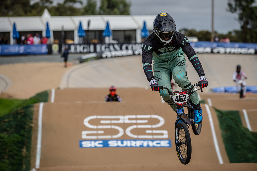 #462 (CAIRNS Max) AUS at Round 2 of the 2020 UCI BMX Supercross World Cup in Shepparton, Australia.