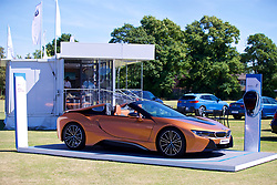 LIVERPOOL, ENGLAND - Sunday, June 24, 2018: The BMW i8 Roadster on display during day four of the Williams BMW Liverpool International Tennis Tournament 2018 at Aigburth Cricket Club. (Pic by Paul Greenwood/Propaganda)