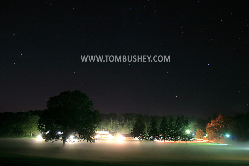 Middletown, N.Y. - The Big Dipper constellation is visible in the night sky and fog on the ground at Chorley Elementary School on the night of Sept. 16, 2006.