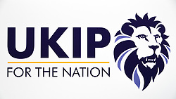 © Licensed to London News Pictures . 29/09/2017 . Torquay , UK . The new UKIP logo , as selected by party supporters from a choice of two , at the conference , features a lion with a mane based on the shape of the Union Jack flag . It is reported as being similar to the logo of the British Premier League . The UK Independence Party Conference at the Riviera International Centre . UKIP is due to announce the winner of a leadership election which has the potential to split the party . Photo credit: Joel Goodman/LNP