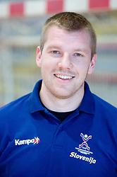 Portrait of Matjaz Mlakar of Slovenian Handball Men National Team, on June 4, 2009, in Arena Kodeljevo, Ljubljana, Slovenia. (Photo by Vid Ponikvar / Sportida)