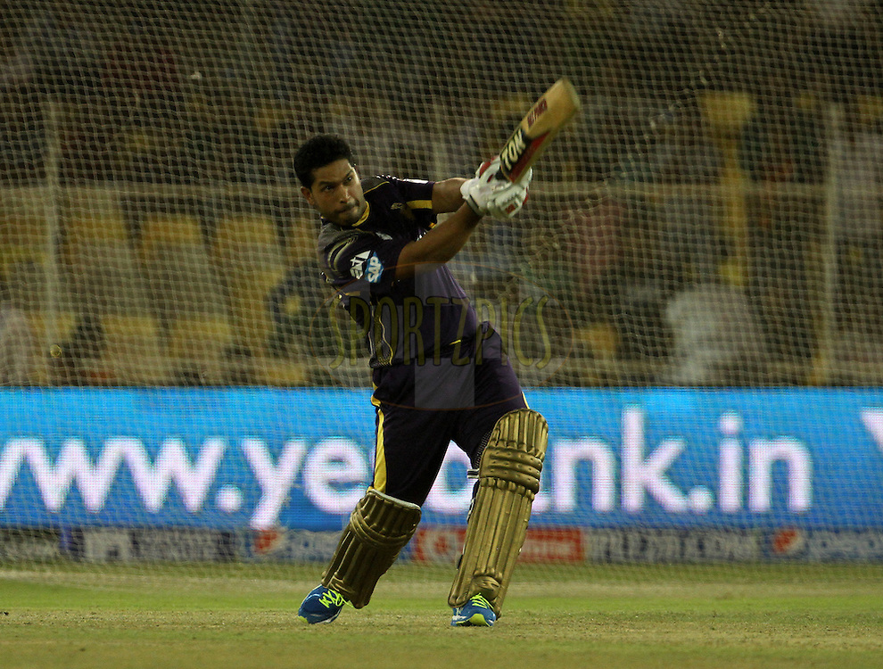 Debabrata Das of the Kolkata Knight Riders plays a shot during the Yes Bank maximum sixes after the match 25 of the Pepsi Indian Premier League Season 2014 between the Rajasthan Royals and the Kolkata Knight Riders held at the Sardar Patel Stadium, Ahmedabad, India on the 5th May  2014<br /> <br /> Photo by Vipin Pawar / IPL / SPORTZPICS      <br /> <br /> <br /> <br /> Image use subject to terms and conditions which can be found here:  http://sportzpics.photoshelter.com/gallery/Pepsi-IPL-Image-terms-and-conditions/G00004VW1IVJ.gB0/C0000TScjhBM6ikg