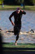 Joseph Lampe (AUS). 2012 Ironman Shepparton 70.3 Triathlon. Shepparton, Victoria, Australia. 18/11/2012. Photo By Lucas Wroe