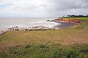 Coastal erosion, East Lane, Bawdsey, Suffolk, England