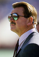 CHICAGO, IL-UNDATED:  NFL Hall of Famer and Chicago Bears head coach Mike Ditka looks on from the sidelines during a game at Soldier FIeld in Chicago, Illinois.  Ditka coached the Bears from 1982-1992.  (Photo by Ron Vesely)