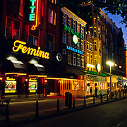 Night life in Amsterdam..Amsterdam, Holland.