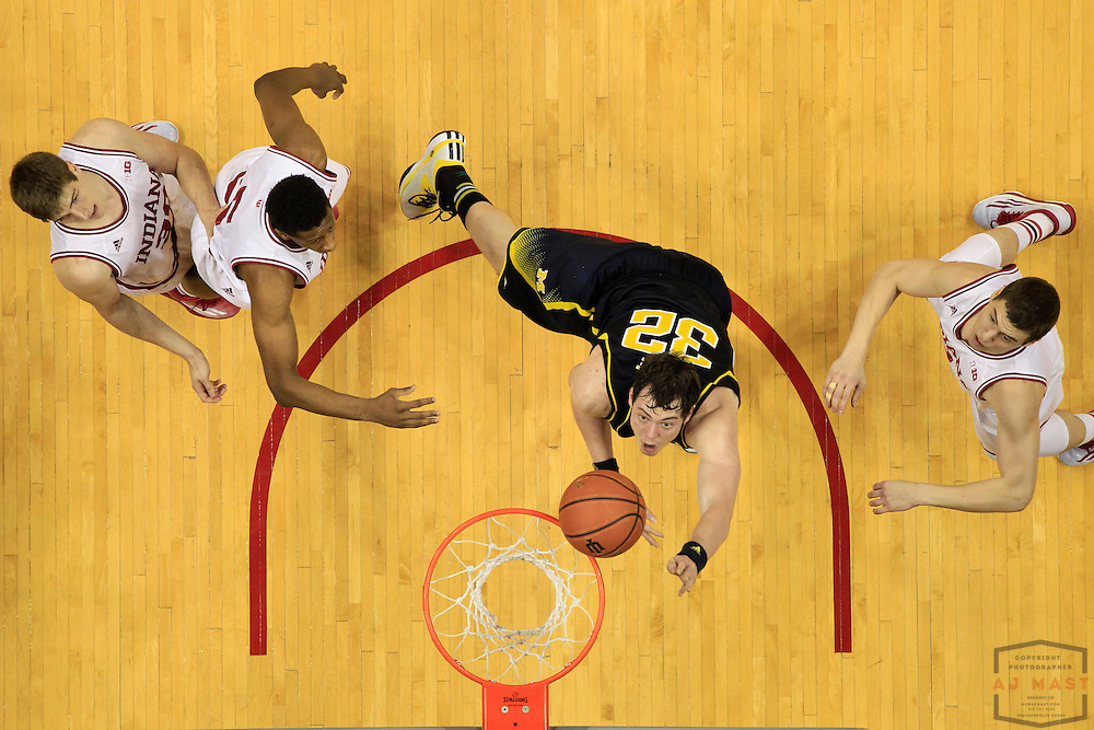 Michigan forward Ricky Doyle (32) as Michigan played Indiana in an NCCA college basketball game in Bloomington, Ind., Sunday, Feb. 8, 2015. (AJ Mast / Photo))