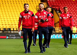 Jamie Paterson and Matty Taylor of Bristol City arrive at Vicarage Road for his side's Carabao Cup Match against Watford - Mandatory by-line: Robbie Stephenson/JMP - 22/08/2017 - FOOTBALL - Vicarage Road - Watford, England - Watford v Bristol City - Carabao Cup