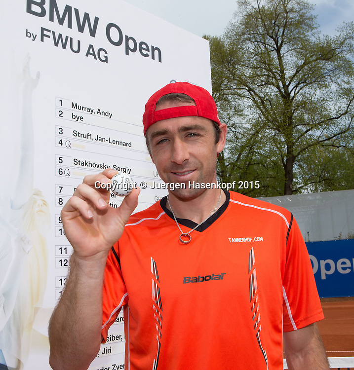BMW Open 2015, Auslosung mit Benjamin Becker (GER)<br /> Tennis - ATP -  Muenchen  - Germany  -