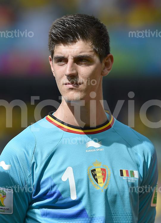 FUSSBALL WM 2014  VORRUNDE    Gruppe H     Belgien - Algerien                       17.06.2014 Torwart Thibaut Courtois (Belgien)