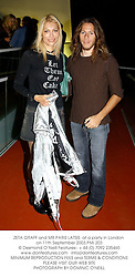 ZETA GRAFF and MR PARIS LATSIS  at a party in London on 11th September 2003.PMI 203