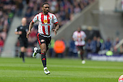 Sunderland's Striker Jermain Defoe (18) during the Barclays Premier League match between Sunderland and Arsenal at the Stadium Of Light, Sunderland, England on 24 April 2016. Photo by George Ledger.