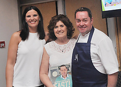 Noreen Moran and Kathleen Gill enjoyed meeting Neven Maguire at the cookery demonstration in aid of the Aoife Beary fund at Hotel Westport. Pic Conor McKeown