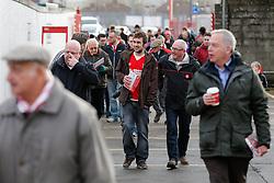 Bristol City fans make their way to the stadium before the match - Photo mandatory by-line: Rogan Thomson/JMP - 07966 386802 - 25/01/2015 - SPORT - FOOTBALL - Bristol, England - Ashton Gate Stadium - Bristol City v West Ham United - FA Cup Fourth Round Proper.