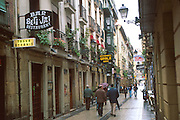 SPAIN, NORTH, BASQUE San Sebastian, signs in Basque