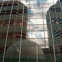 Reflection of buildings in the Rosslyn section of Arlington, VA.