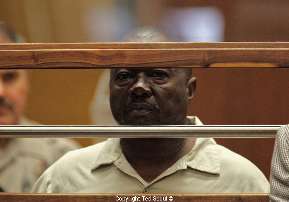 Serial murder suspect, Lonnie David Franklin jr., also known as the &quot;Grim Sleeper&quot; during arraignment at the LA Criminal Courts building.<br /> Pool image