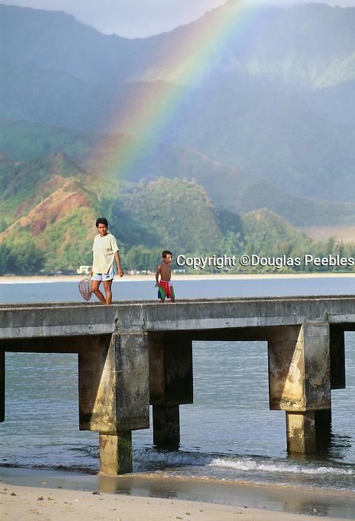Hanalei Pier, Hanalei Bay, Kauai, Hawaii...