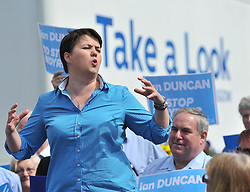 Scottish tory leader Ruth Davidson campaigns in Perth with local candidate Ian Duncan in the run up to the General Election.<br /> <br /> &copy; Dave Johnston/ EEm