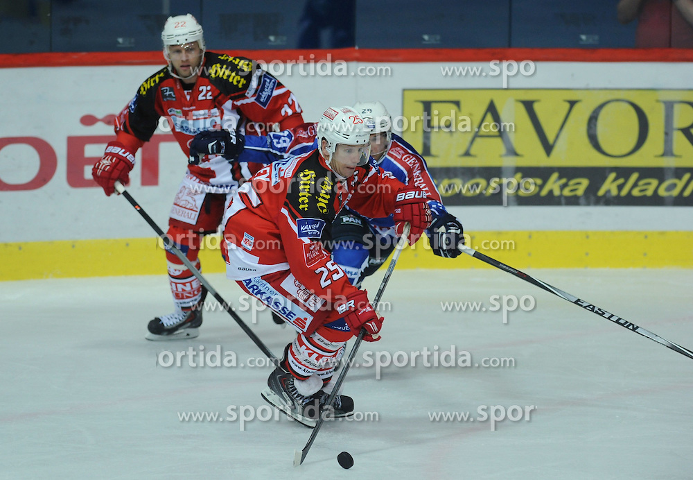 29.08.2014, Dom Sportova, Zagreb, CRO, KHL Medvescak vs KAC Klagenfurt, Eishockey Vorbereitungsspiel, im Bild Kirk Furey // during a Hockey pre-season match between KHL Medvescak and KAC Klagenfurt at the Dom Sportova in Zagreb, Croatia on 2014/08/29. EXPA Pictures &copy; 2014, PhotoCredit: EXPA/ Pixsell/ Marko Lukunic<br /> <br /> *****ATTENTION - for AUT, SLO, SUI, SWE, ITA, FRA only*****