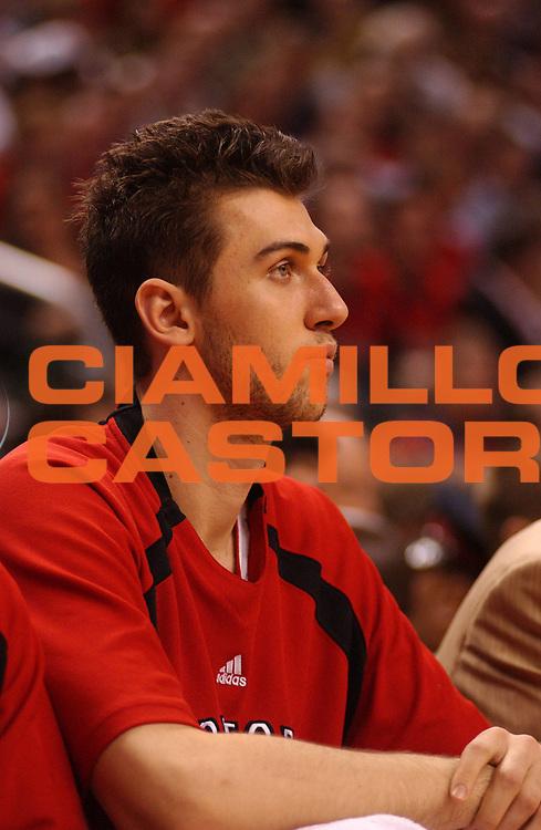 DESCRIZIONE : Toronto Campionato NBA 2006-2007 Toronto Raptors New Jersey Nets<br /> GIOCATORE : Bargnani<br /> SQUADRA : Toronto Raptors New Jersey Nets<br /> EVENTO : Campionato NBA 2006-2007 <br /> GARA : Toronto Raptors New Jersey Nets<br /> DATA : 24/04/2007 <br /> CATEGORIA : Ritratto<br /> SPORT : Pallacanestro <br /> AUTORE : Agenzia Ciamillo-Castoria/V.Keslassy<br /> Galleria : NBA 2006-2007 <br /> Fotonotizia : Toronto Campionato NBA 2006-2007 Toronto Raptors New Jersey Nets<br /> Predefinita :