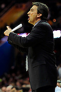 Feb. 11, 2011; Cleveland, OH, USA; Los Angeles Clippers head coach Vinny Del Negro yells to his team during the second quarter against the Cleveland Cavaliers at Quicken Loans Arena. Mandatory Credit: Jason Miller-US PRESSWIRE