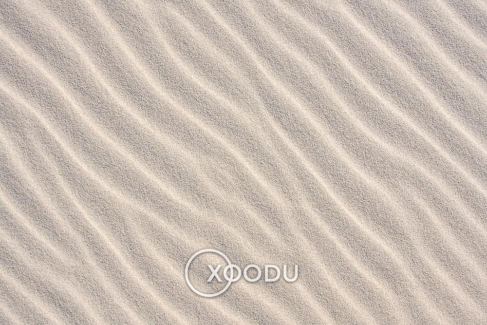 Rippled texture pattern of Gobi Desert sand dune (, Mongolia - Sep. 2008) (Image ID: 080905-1731491a)
