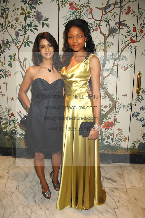 Left to right, TV presenter KONNIE HUQ and actress NAOMI HARRIS at the Chain of Hope Ball held at The Dorchester, Park Lane, London on 4th February 2008.<br />