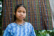 A young girl whose father survived the 1982 massacre of 268 people from Plan de Sanchez. In 2012 five members of the Guatemalan military were sentenced to 7,710 years in prison for their roles in the killings. <br /> Plan de Sanchez, September 2011.