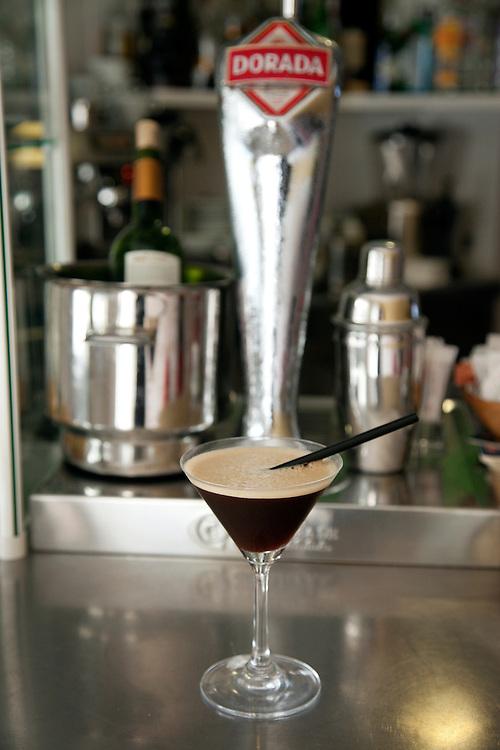 Cocktail at Restaurant-bar Jalea de Menta in El Sauzal, North Tenerife.