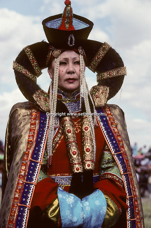 Mongolia. folkloric dances and traditional dresses in  Dalanzadgad  capital of the Gobi desert,