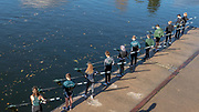 Maidenhead, Berkshire, UK, 11th November 2018, 11 members of the Junior Squad, remember, the 11 members who gave the lives in the WW1 & WW2, at the 100th anniversary if the WW1 armistice, 2018 Remembrance Sunday, at Maidenhead Rowing Club, © Peter SPURRIER,