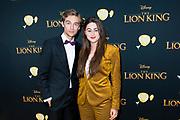 Nederlandse galapremiere van de Disney-klassieker Lion King in Pathe Tuschinski, Amsterdam.<br /> <br /> Op de foto:  Ridder van Kooten en Bente Fokkens