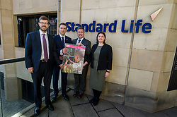 Pictured: Sandy McDonald, Head of Sustainability at Standard Life Plc; Mark Bevan head of operations at BITC; Keith Brown; Laura Mazarra<br /> Veterans minister, Keith Brown MSP visited Standard Life offices in Edinburgh today and launched a toolkit to help firms embrace the skills of veterans and support former military personnel into second careers.  Mr Brown met veteran Laura Mazzara who now works for Standard Life <br /> Ger Harley | EEm 21 March 2017