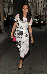 Vanessa White attends the Jean-Pierre Braganza show at London Fashion Week AW14 in London, UK. 14/02/2014<br />