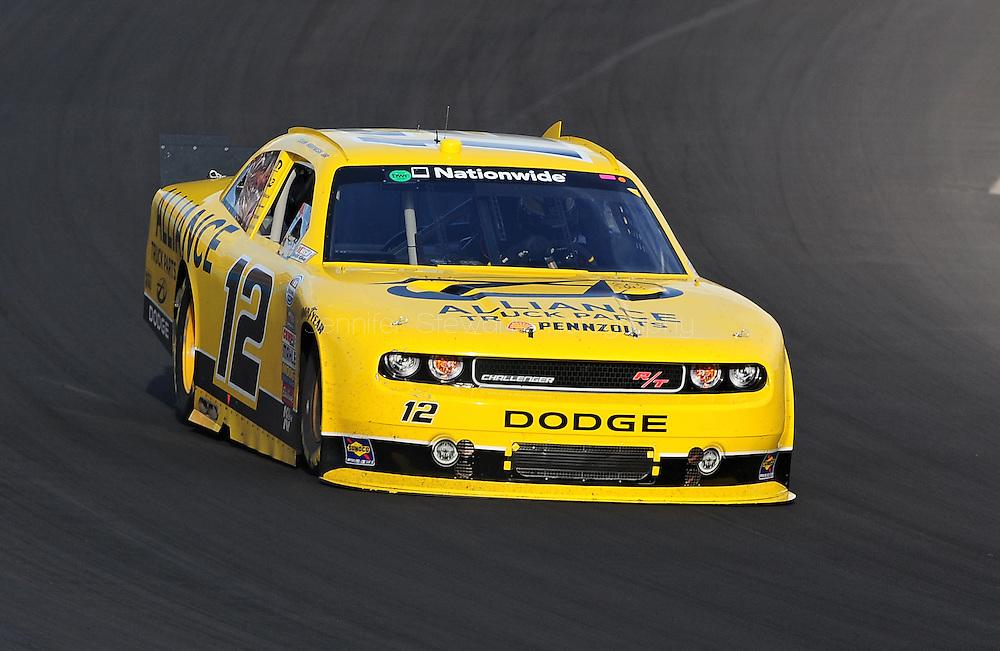 Nov. 12 2011; Avondale, AZ, USA; NASCAR Nationwide Series driver Sam Hornish Jr. (12) races during the Wypall 200 at Phoenix International Raceway. Mandatory Credit: Jennifer Stewart-US PRESSWIRE