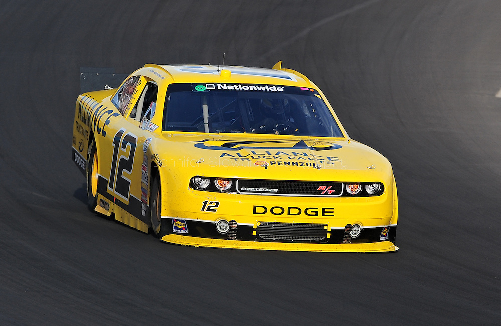 Nov. 12 2011; Avondale, AZ, USA; NASCAR Nationwide Series driver Sam Hornish Jr. (12) races during the Wypall 200 at Phoenix International Raceway. Mandatory Credit: Jennifer Stewart-US PRESSWIRE